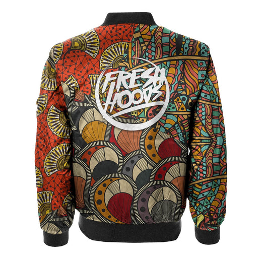 African Pattern Bomber Jacket