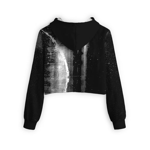 Illusions Cropped Hoodie