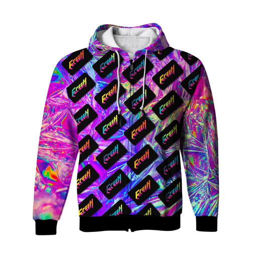 Fresh Dimension Zip Up Hoodie