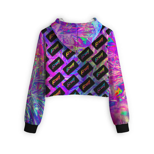 Fresh Dimension Cropped Hoodie