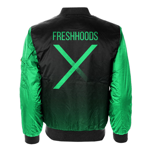 Fresh Neon Green Bomber Jacket