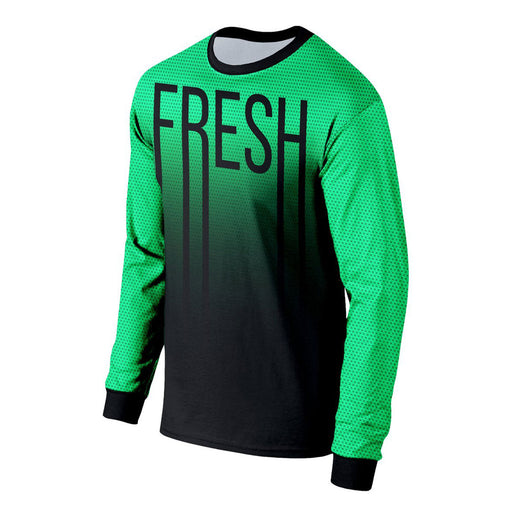 Fresh Neon Green Long Sleeve Shirt