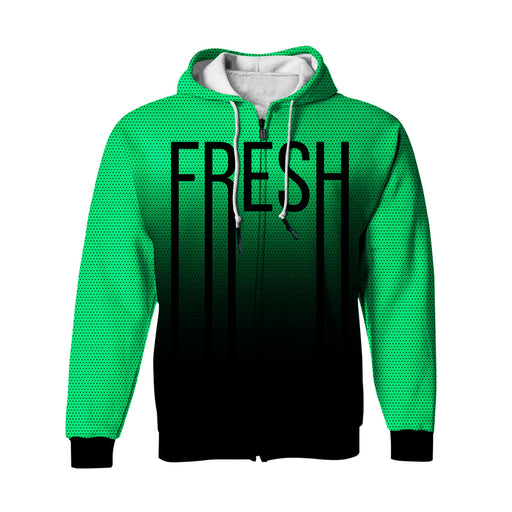 Fresh Neon Green Zip Up Hoodie