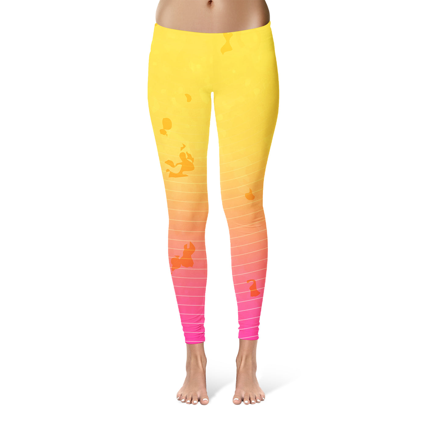 Yellow To Pink Leggings