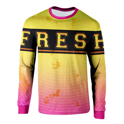 Yellow To Pink Long Sleeve Shirt