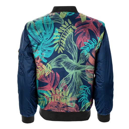Colorful Leaves Bomber Jacket