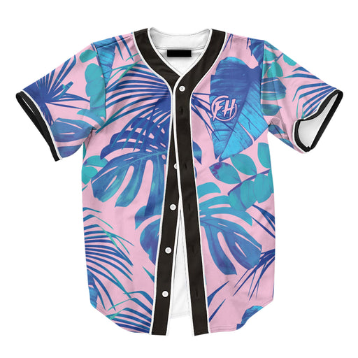 Blue Monstera Jersey