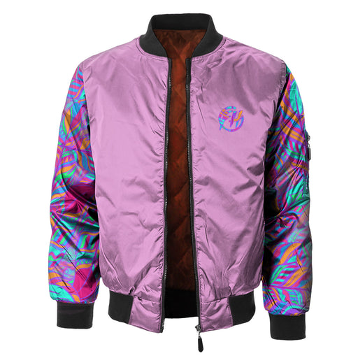 Neon Feathers Bomber Jacket