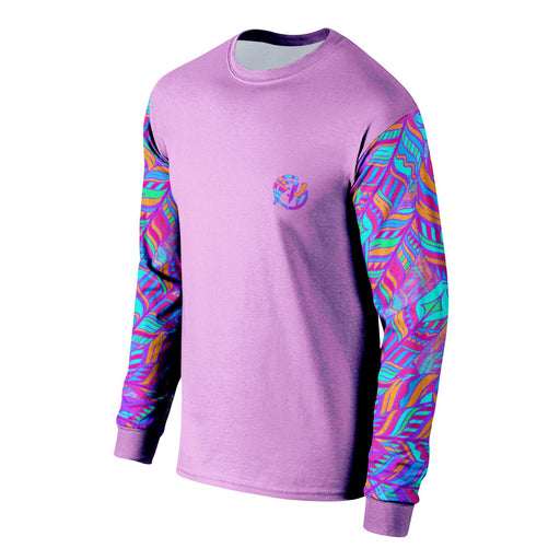 Neon Feathers Long Sleeve Shirt