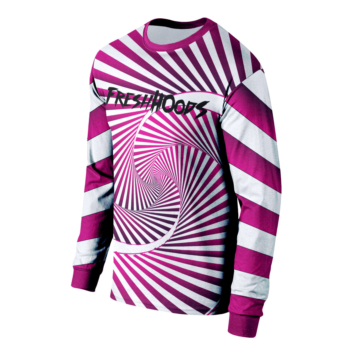 Magenta Swirl Long Sleeve Shirt