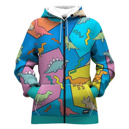 Dino Women Zip Up Hoodie