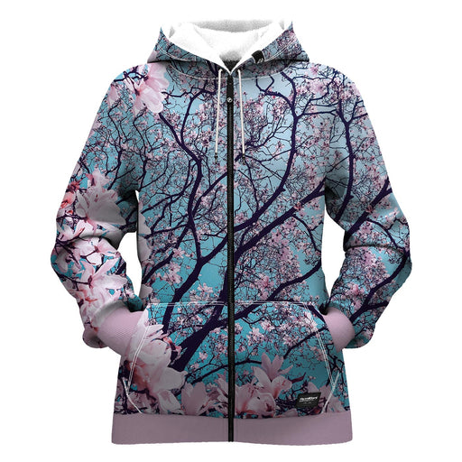 Cherry Blossom Women Zip Up Hoodie