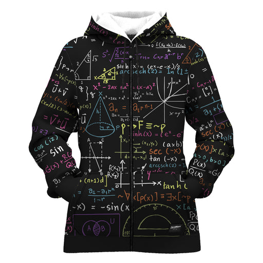 Math Women Zip Up Hoodie