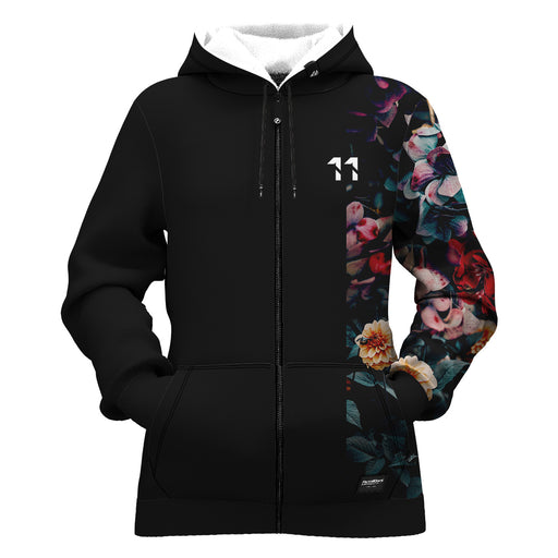 Vintage Flowers Women Zip Up Hoodie