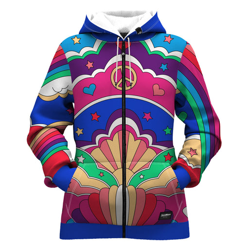 Peace N' Love Women Zip Up Hoodie