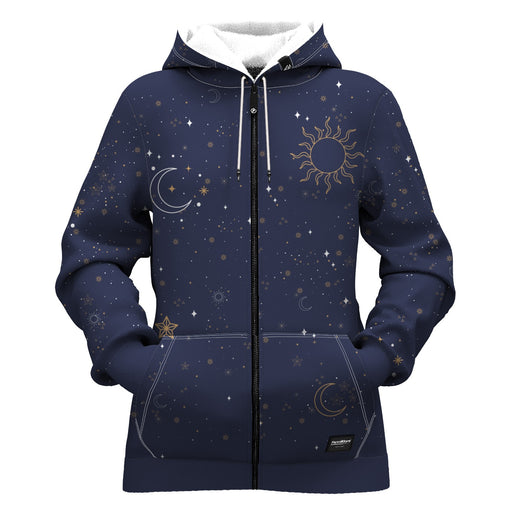 Night Sky Women Zip Up Hoodie
