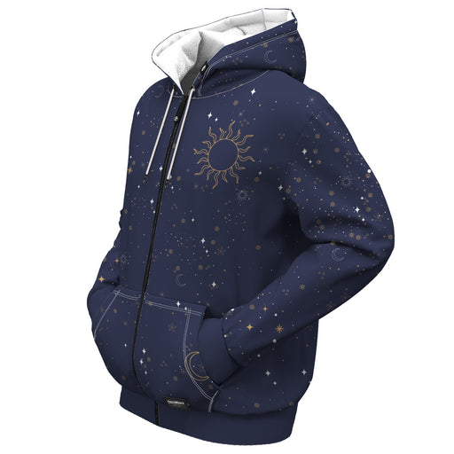 Night Sky Zip Up Hoodie
