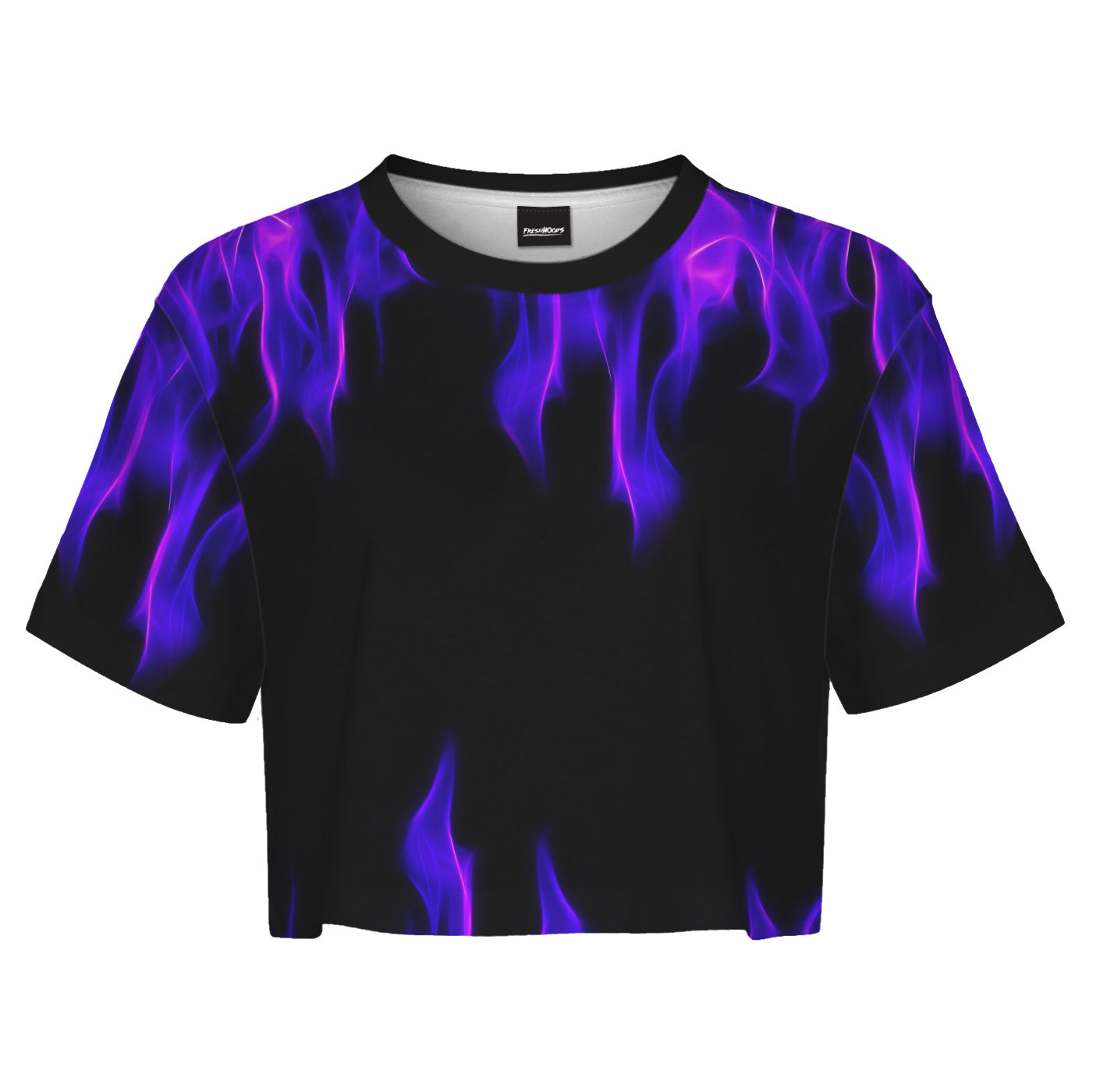 Purple Flame Crop Top
