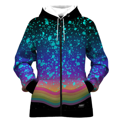 Space Grunge Women Zip Up Hoodie