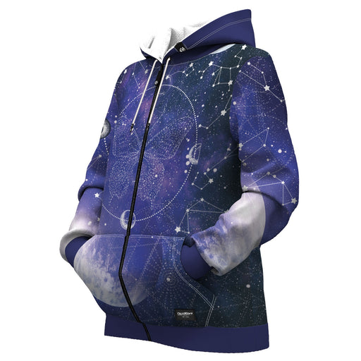 Mariposa Stars Women Zip Up Hoodie