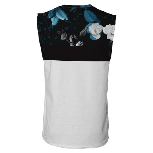 Dark Floral Sleeveless T-Shirt