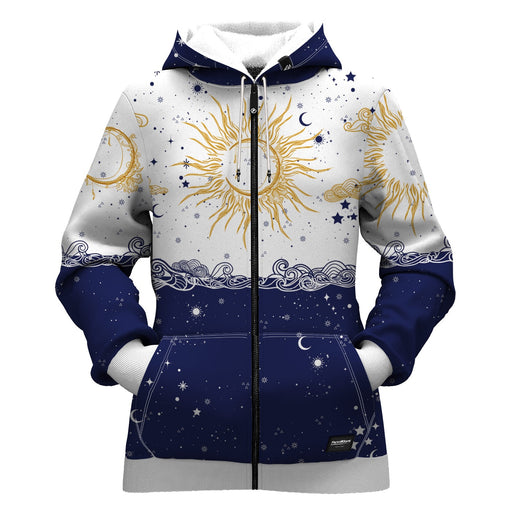Sun and Moon Women Zip Up Hoodie