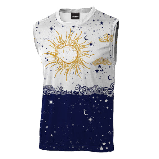 Sun and Moon Sleeveless T-Shirt