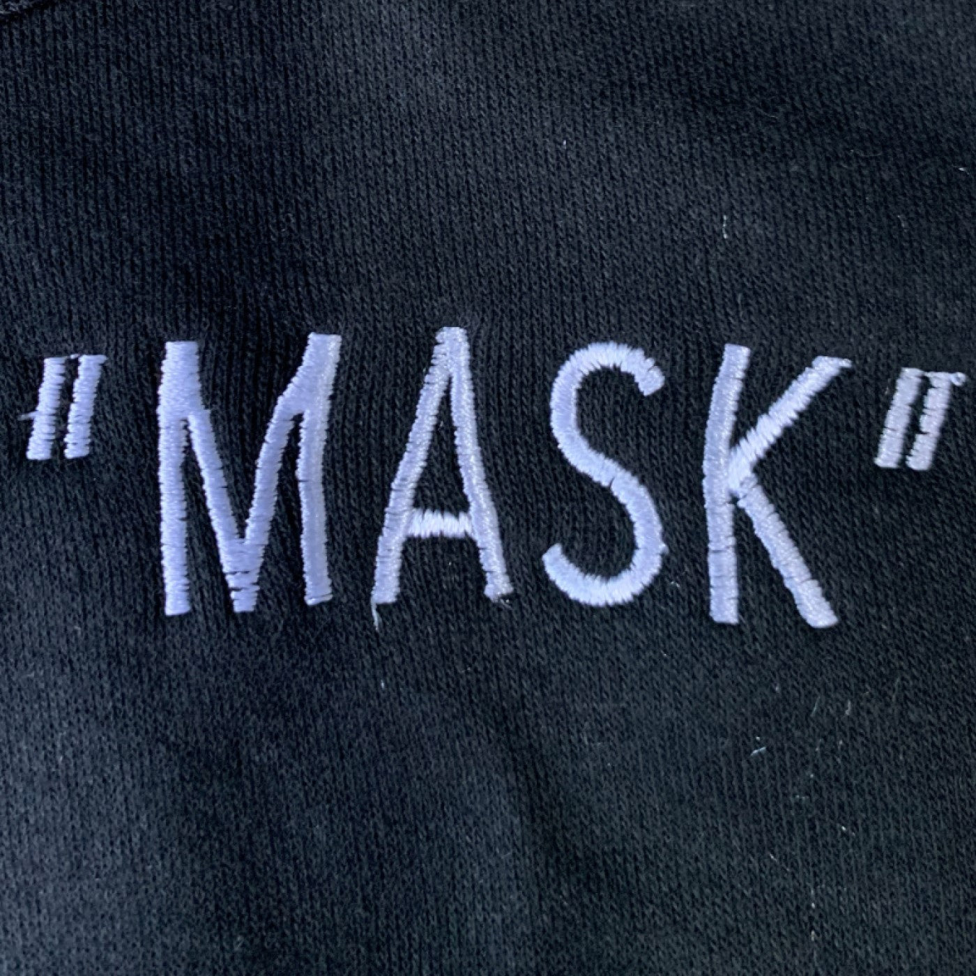 """Mask"" Embroidered Mask"