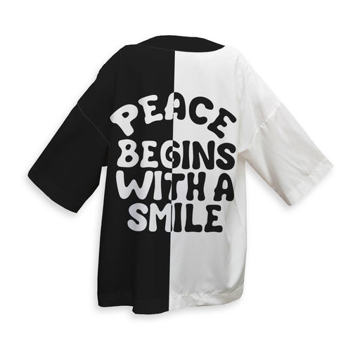 Peace Begins With A Smile Kimono