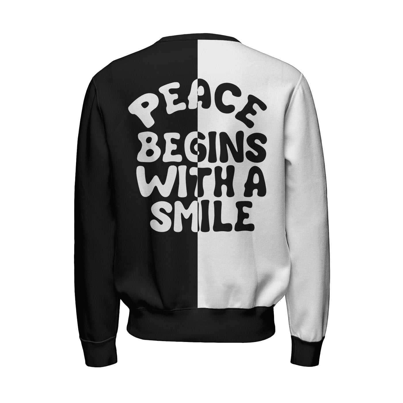Peace Begins With A Smile Sweatshirt