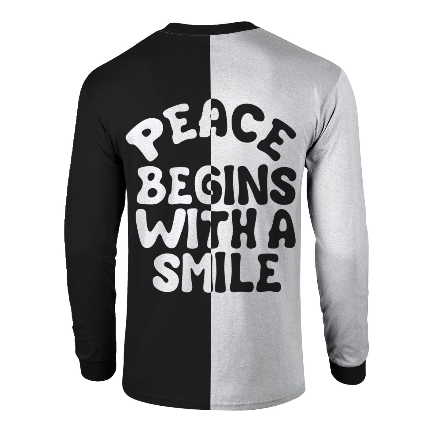 Peace Begins With A Smile Long Sleeve Shirt