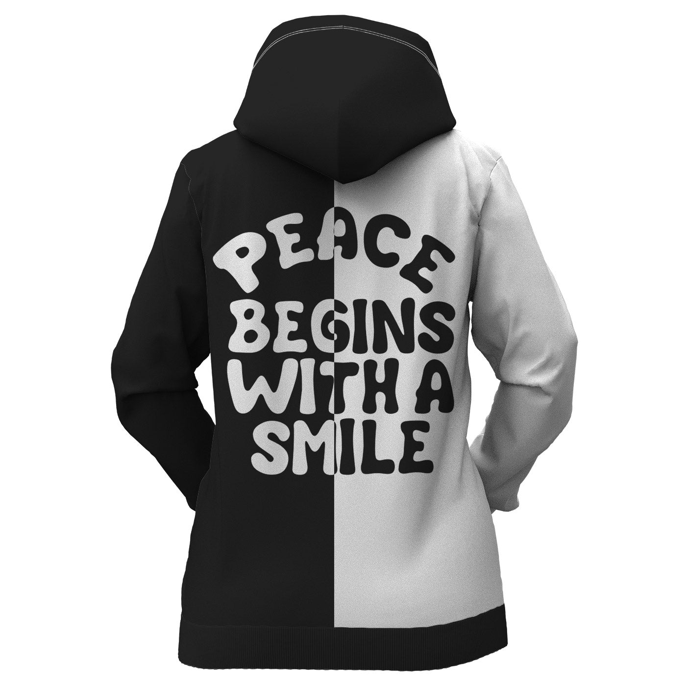 Peace Begins With A Smile Women Hoodie