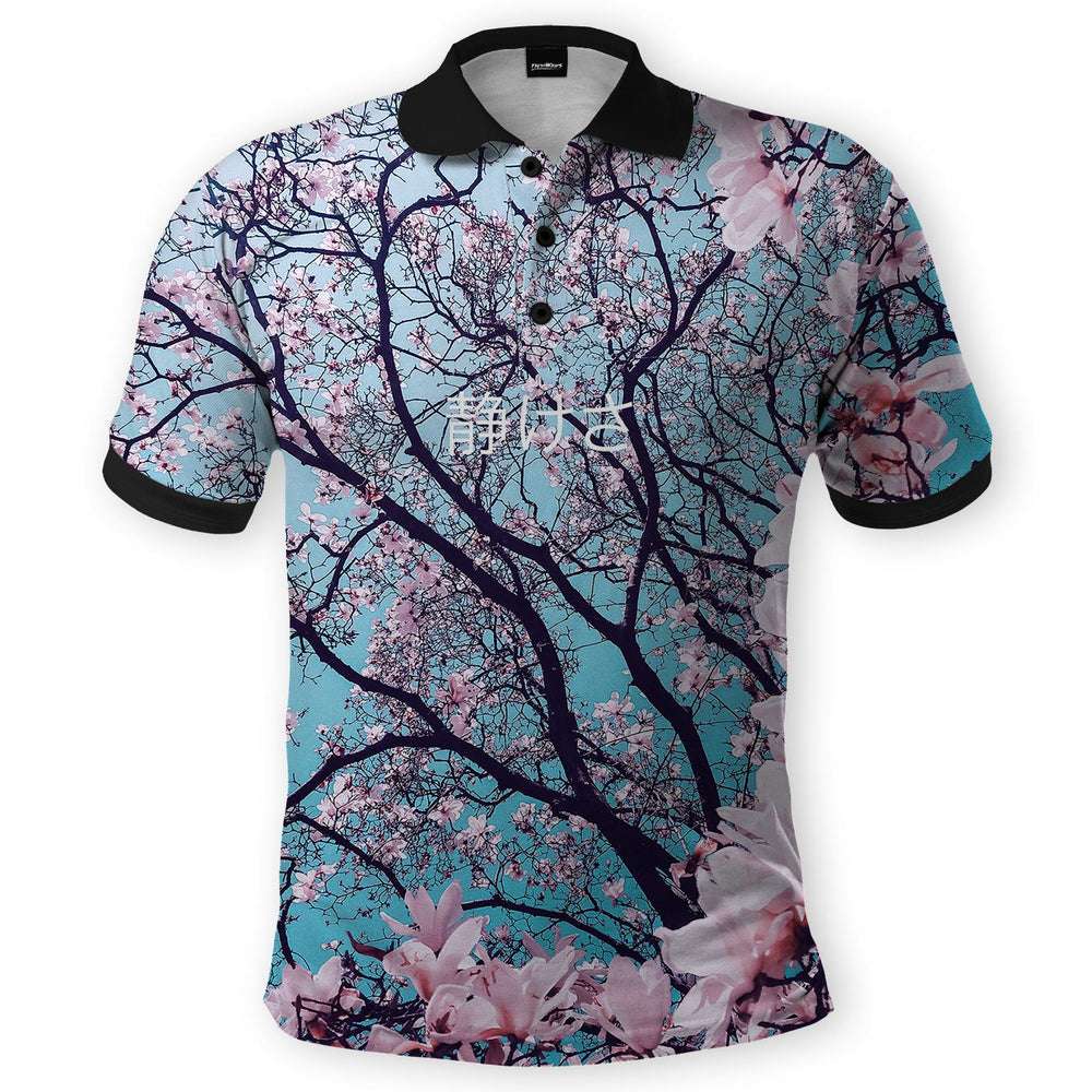 Cherry Blossom Polo Shirt