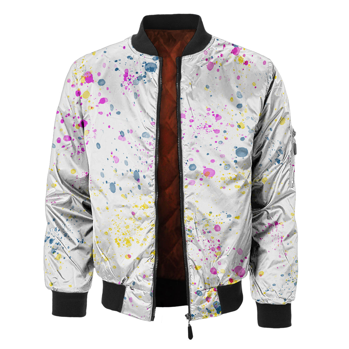 Watercolor Eye Bomber Jacket