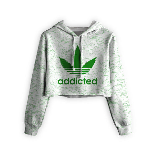 Addicted Cropped Hoodie