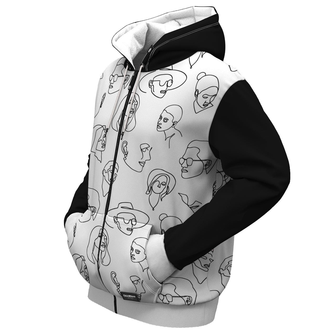 Unique Zip Up Hoodie