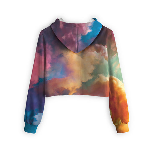 Abstract Cropped Hoodie