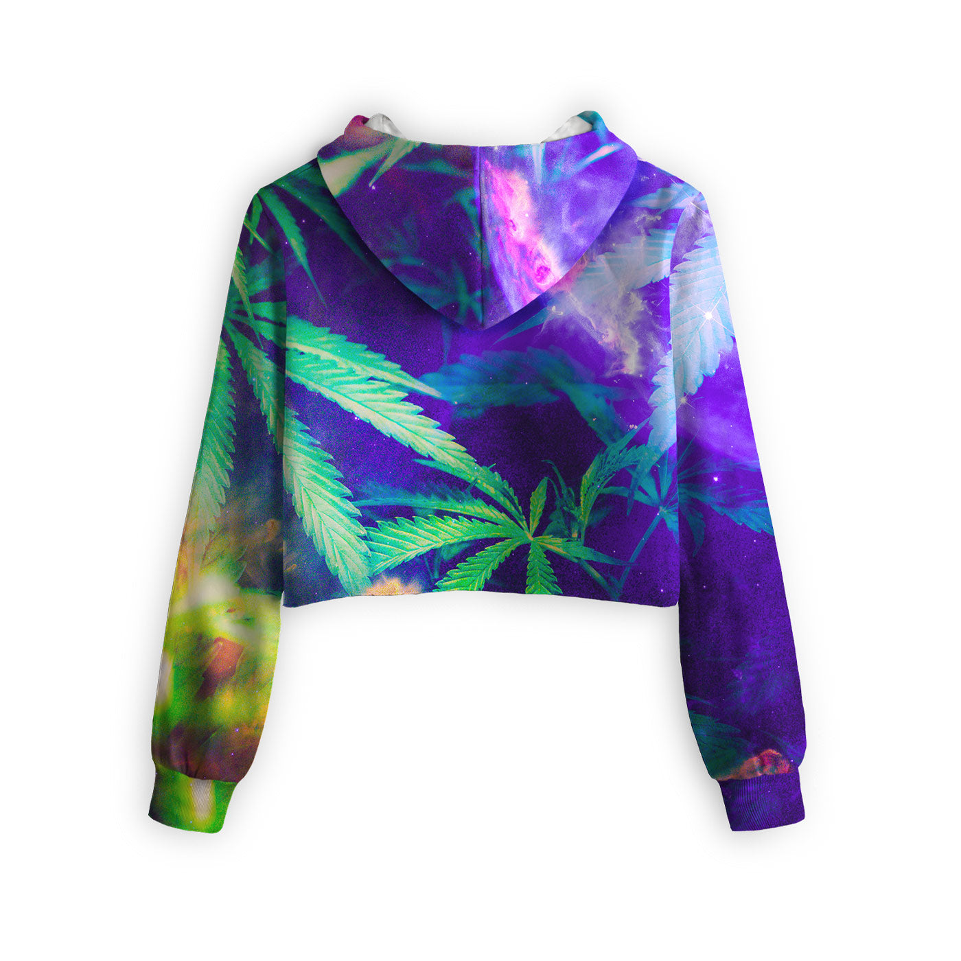 Stoner Galaxy Cropped Hoodie