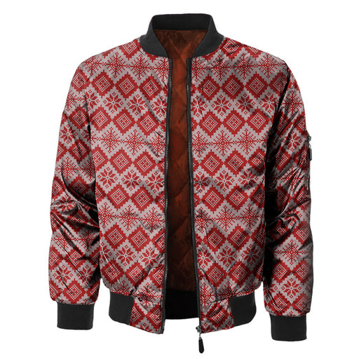 2020 Christmas Sweater Bomber Jacket