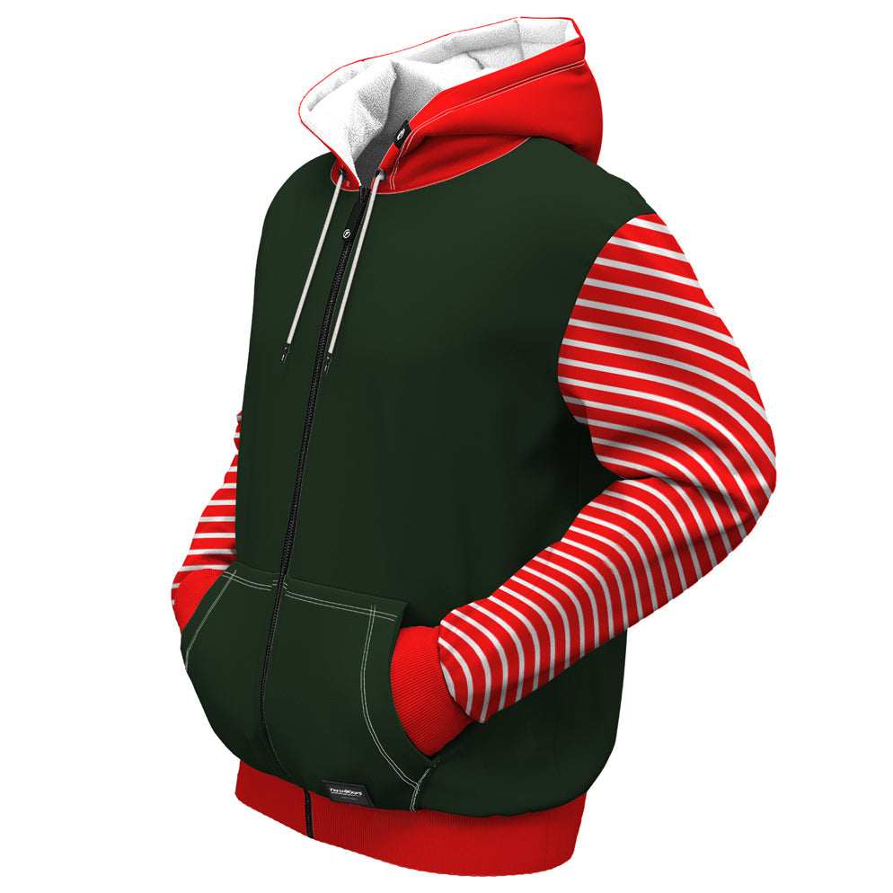 Merryjuana Christmas Zip Up Hoodie