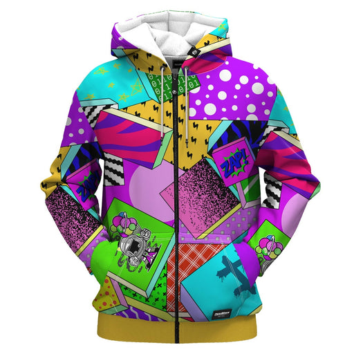 Zap Attack Zip Up Hoodie