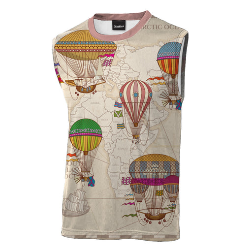 World Travel Sleeveless T-Shirt