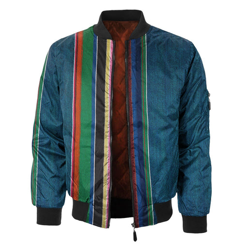 Colorful Denim Bomber Jacket