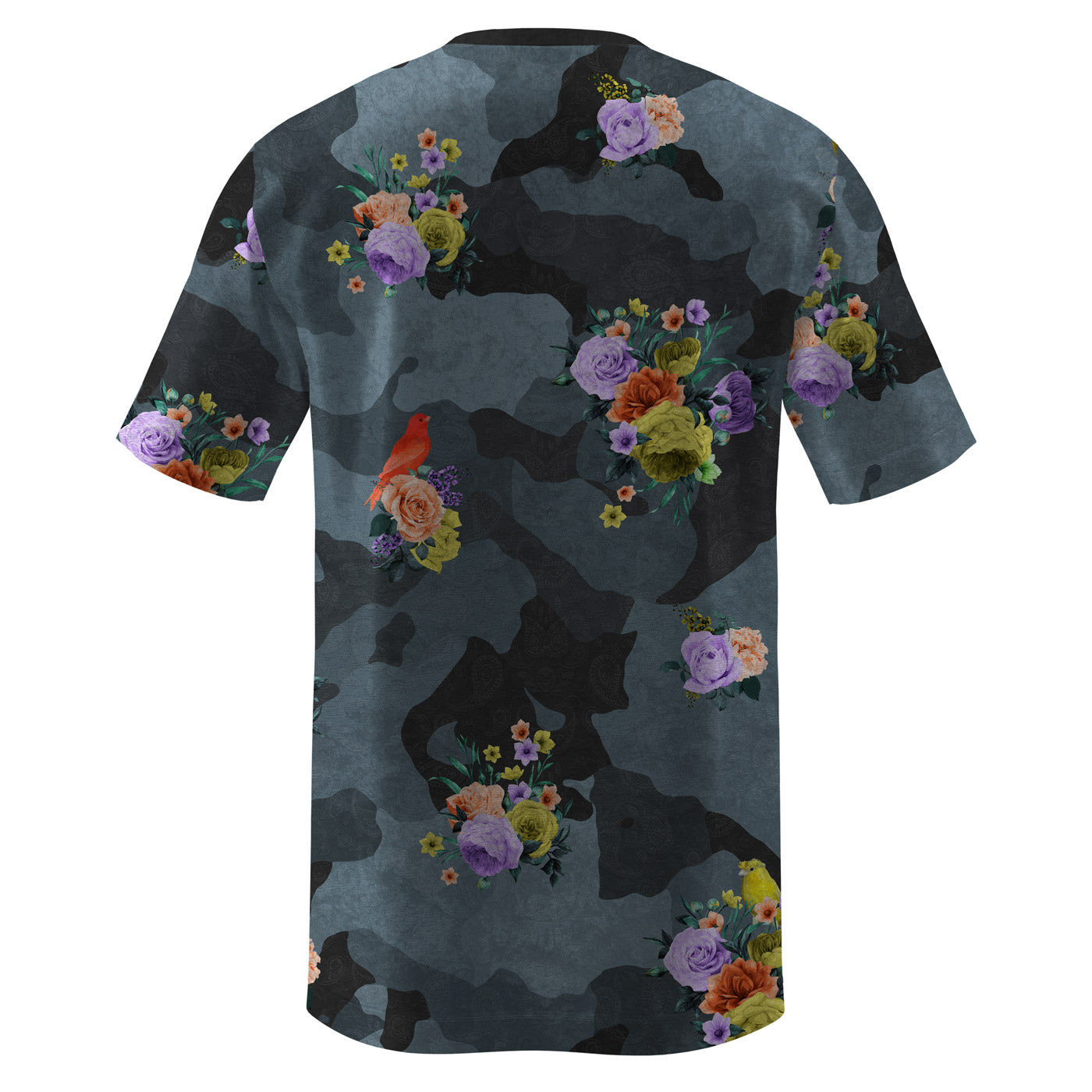 Camo Flower Crushed Velvet T-Shirt