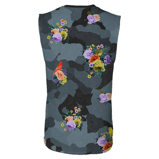 Camo Flower Sleeveless T-Shirt