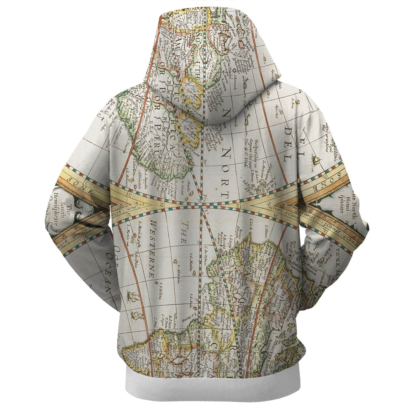Map Zip Up Hoodie
