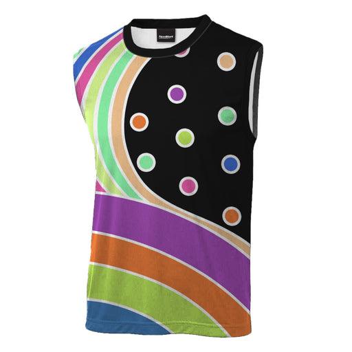 Polka Sleeveless T-Shirt