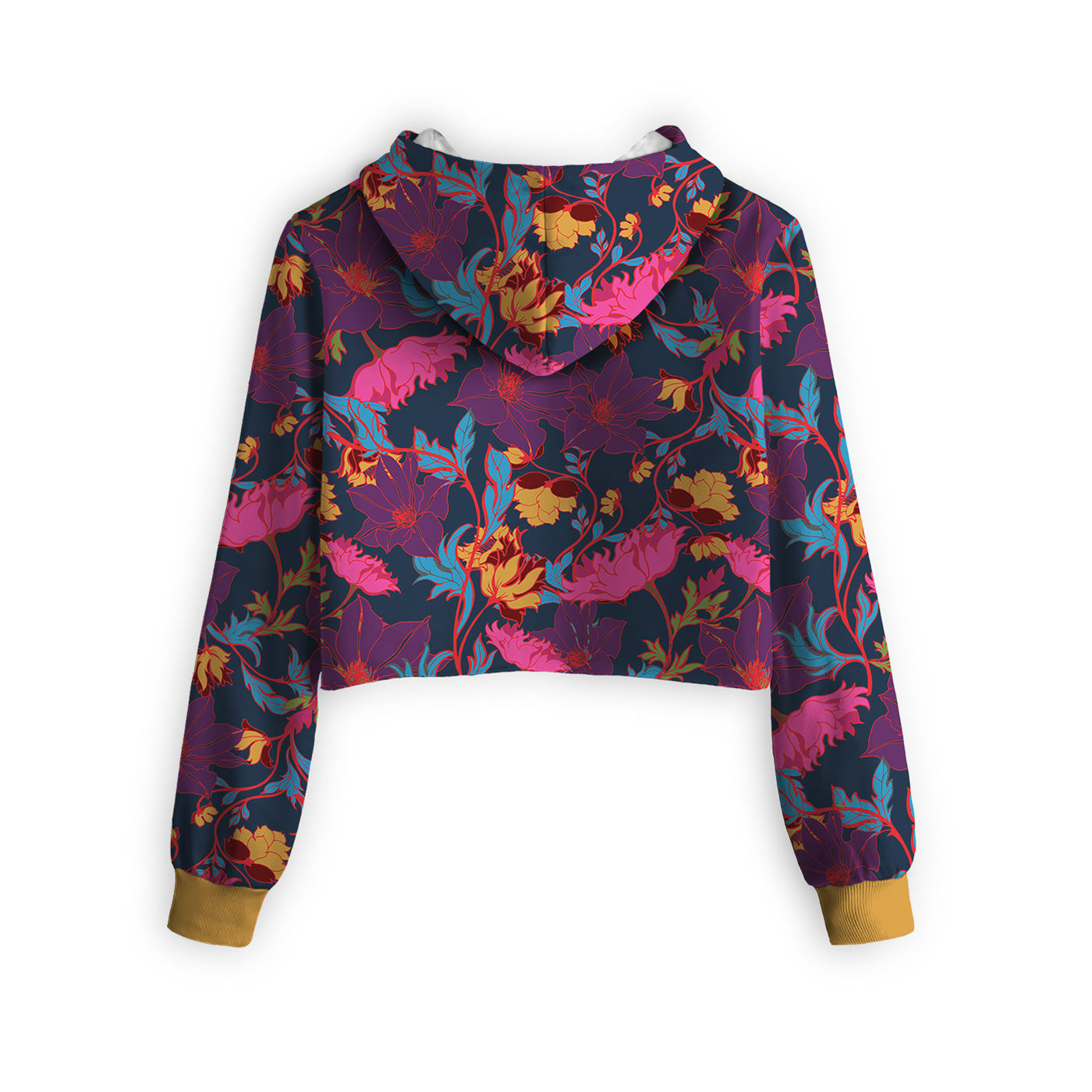 Fairy Tale Night Floral Cropped Hoodie