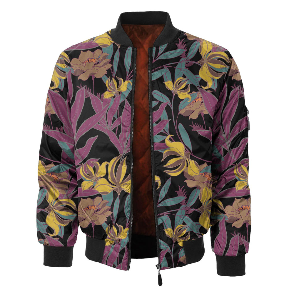 Autumn Jungle Bomber Jacket
