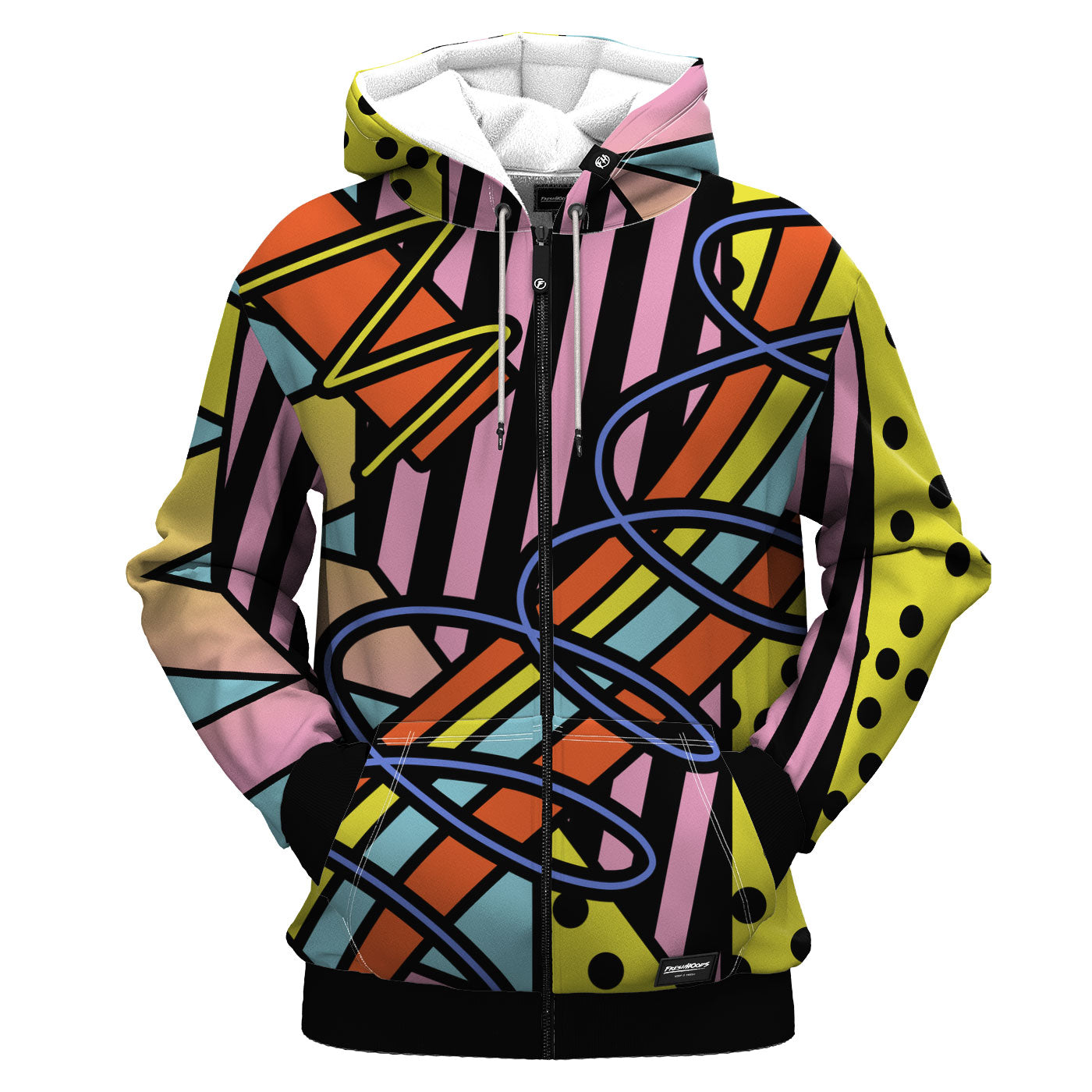Deconstructive Geometry Zip Up Hoodie